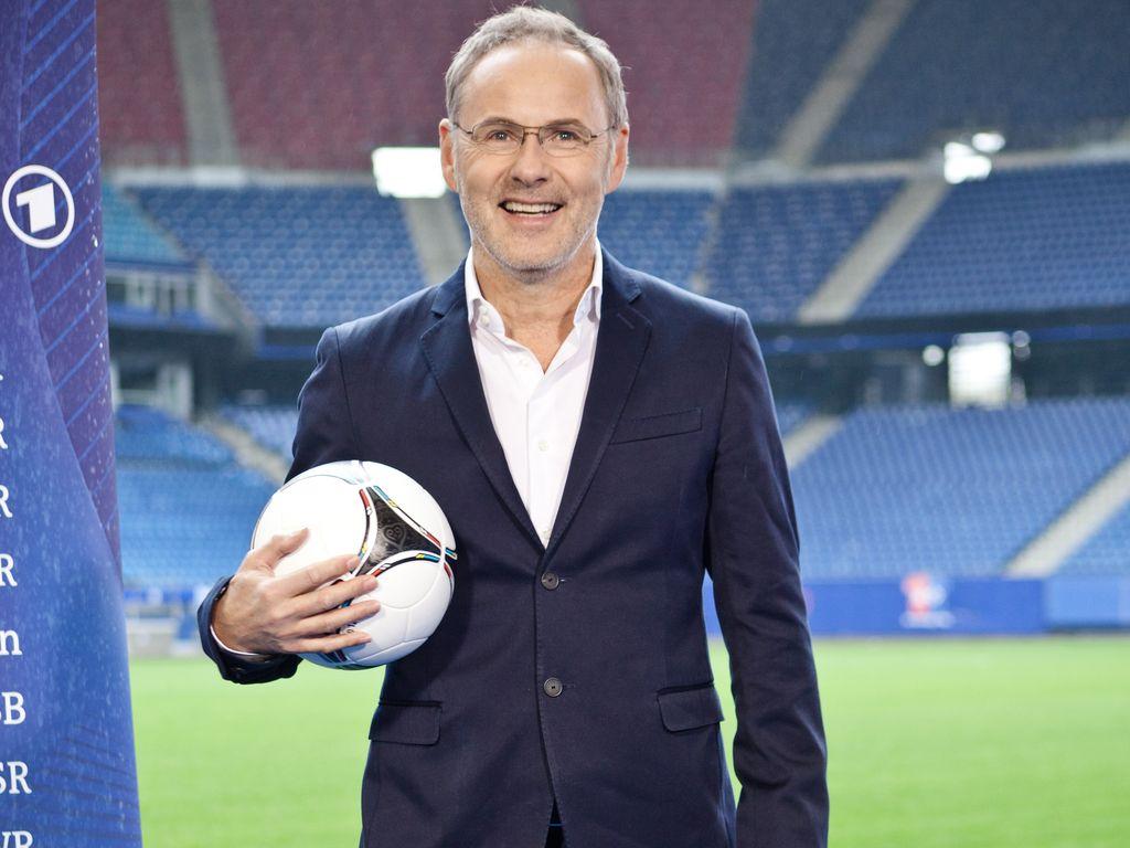 Reinhold Beckmann im Stadion