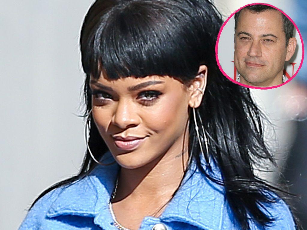 Rihanna und Jimmy Kimmel