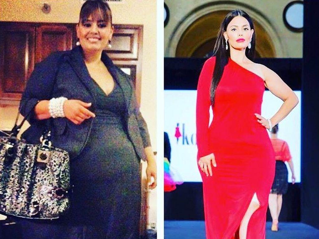 Rosie Mercado vor und nach ihrem Gewichtsverlust