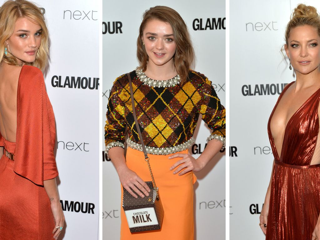 Kate Hudson, Rosie Huntington-Whiteley und Maisie Williams