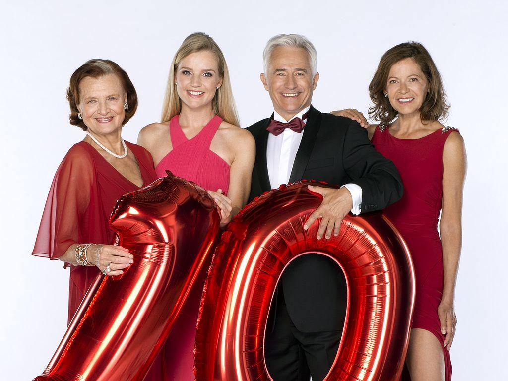 "10. Jahre ""Rote Rosen"": Brigitte Antonius, Kim-Sarah Brandts, Gerry Hungbauer & Angela Roy (v.l.)"