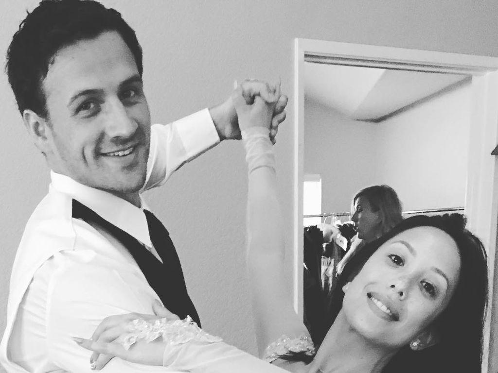 """Ryan Lochte mit seiner Tanzpartnerin Cherly Burke bei """"Dancing with the Stars"""""""