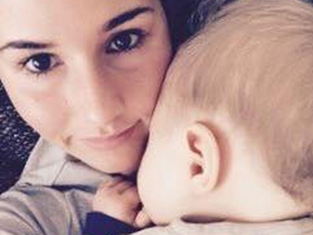 Sarah Lombardi mit ihrem Baby