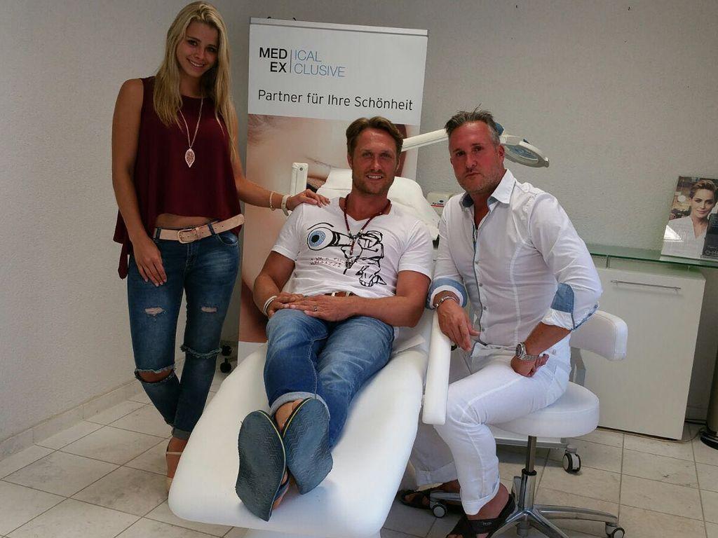 Saskia Atzerodt und Nico Schwanz beim Beauty-Doc Oliver Gekeler