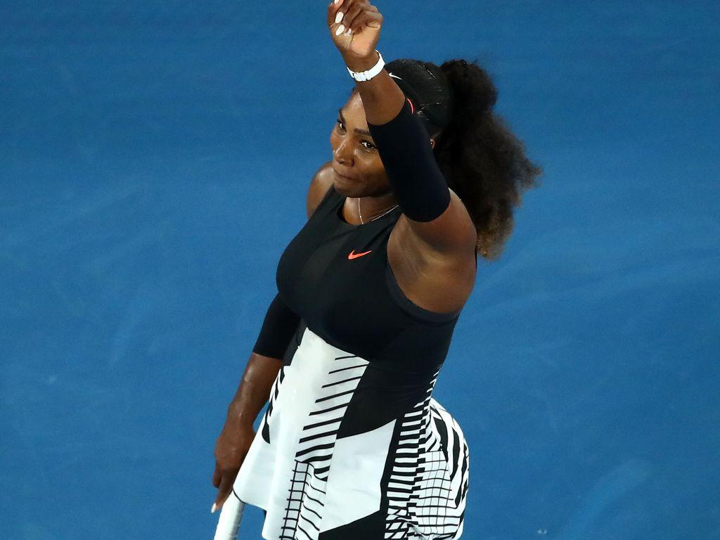 Serena Williams bei ihrem Sieg an den Australian Open