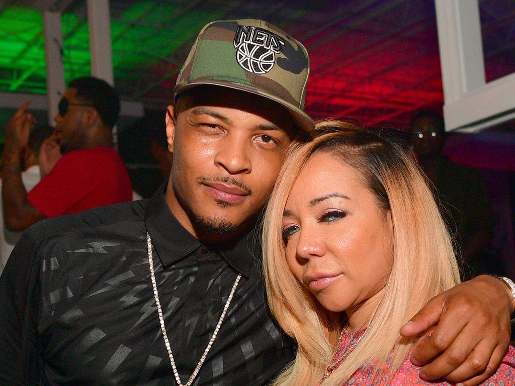 Rapper T.I. mit Tameka 'Tiny' Harris in Atlanta