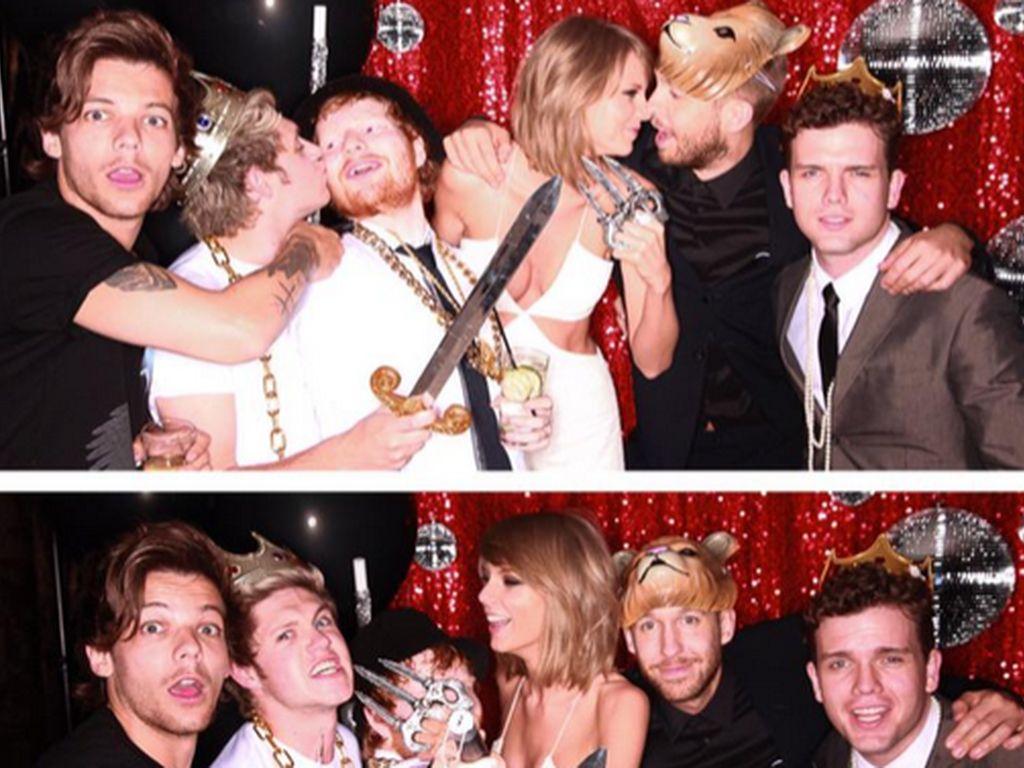 Louis Tomlinson, Niall Horan, Ed Sheeran, Taylor Swift und Calvin Harris