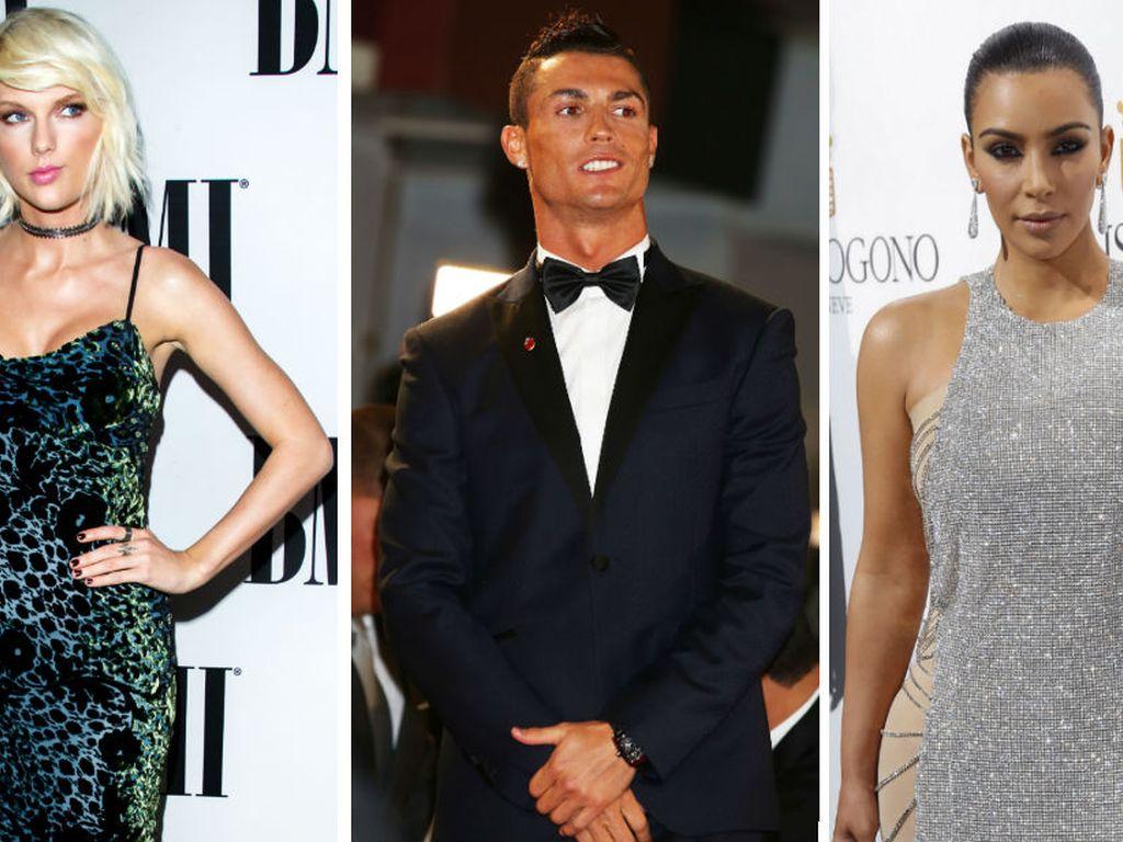Taylor Swift, Cristiano Ronaldo und Kim Kardashian