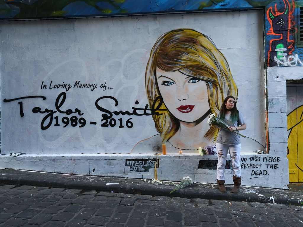 Taylor Swift R.I.P.-Graffiti in Melbourne, Australien