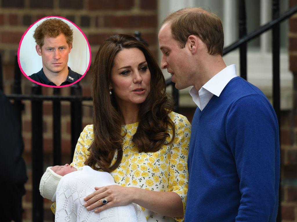 Herzogin Kate, Prinz Harry, Prinz William und Prinzessin Charlotte
