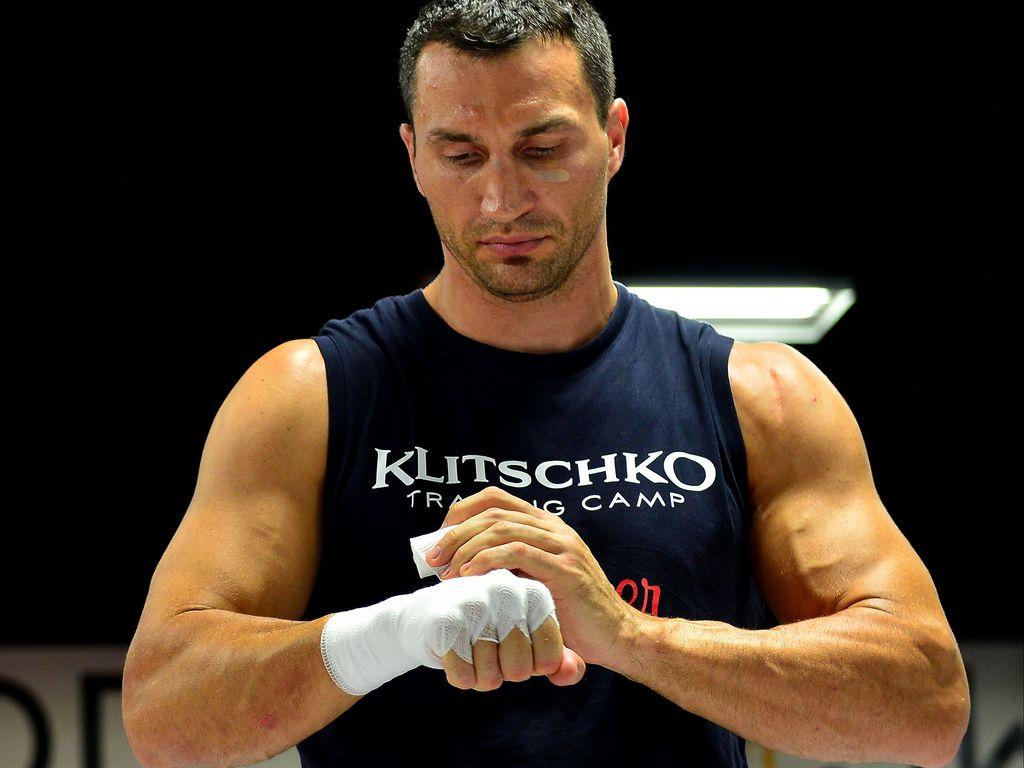 Wladimir Klitschko, bei Vorbereitungen fürs Boxen
