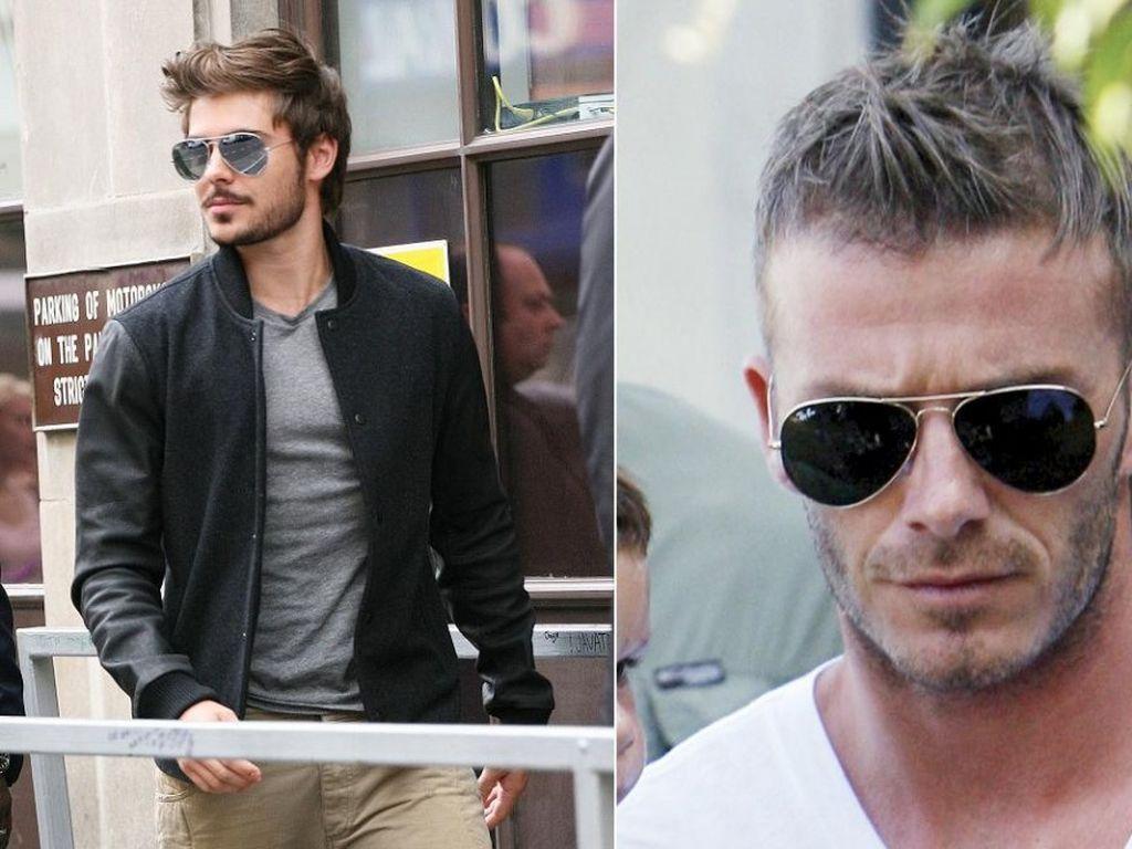 David Beckham und Zac Efron