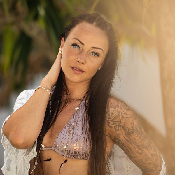 Sandra Ex on the Beach
