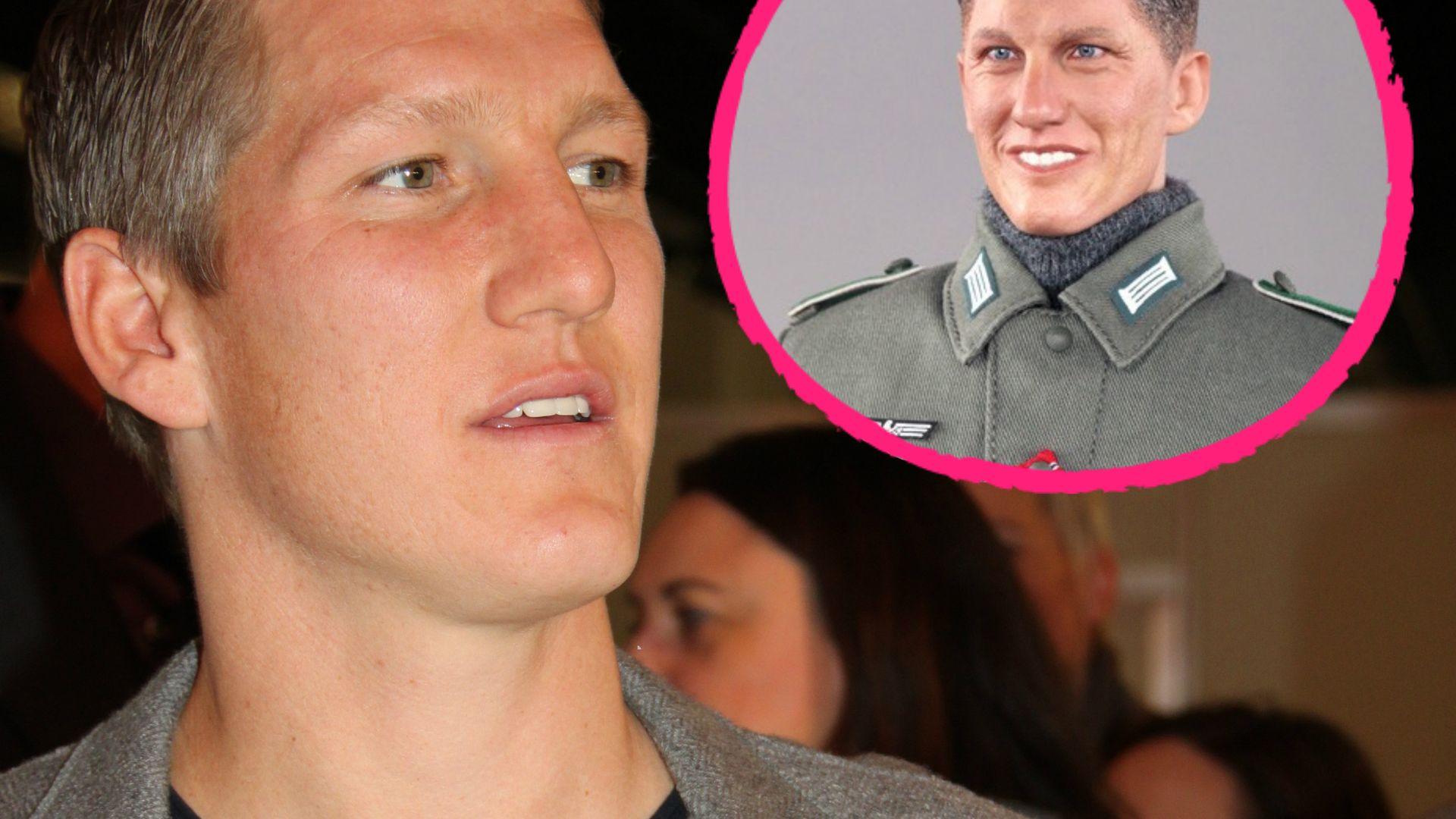 Kurios Bastian Schweinsteiger geht gegen Nazi Puppe vor
