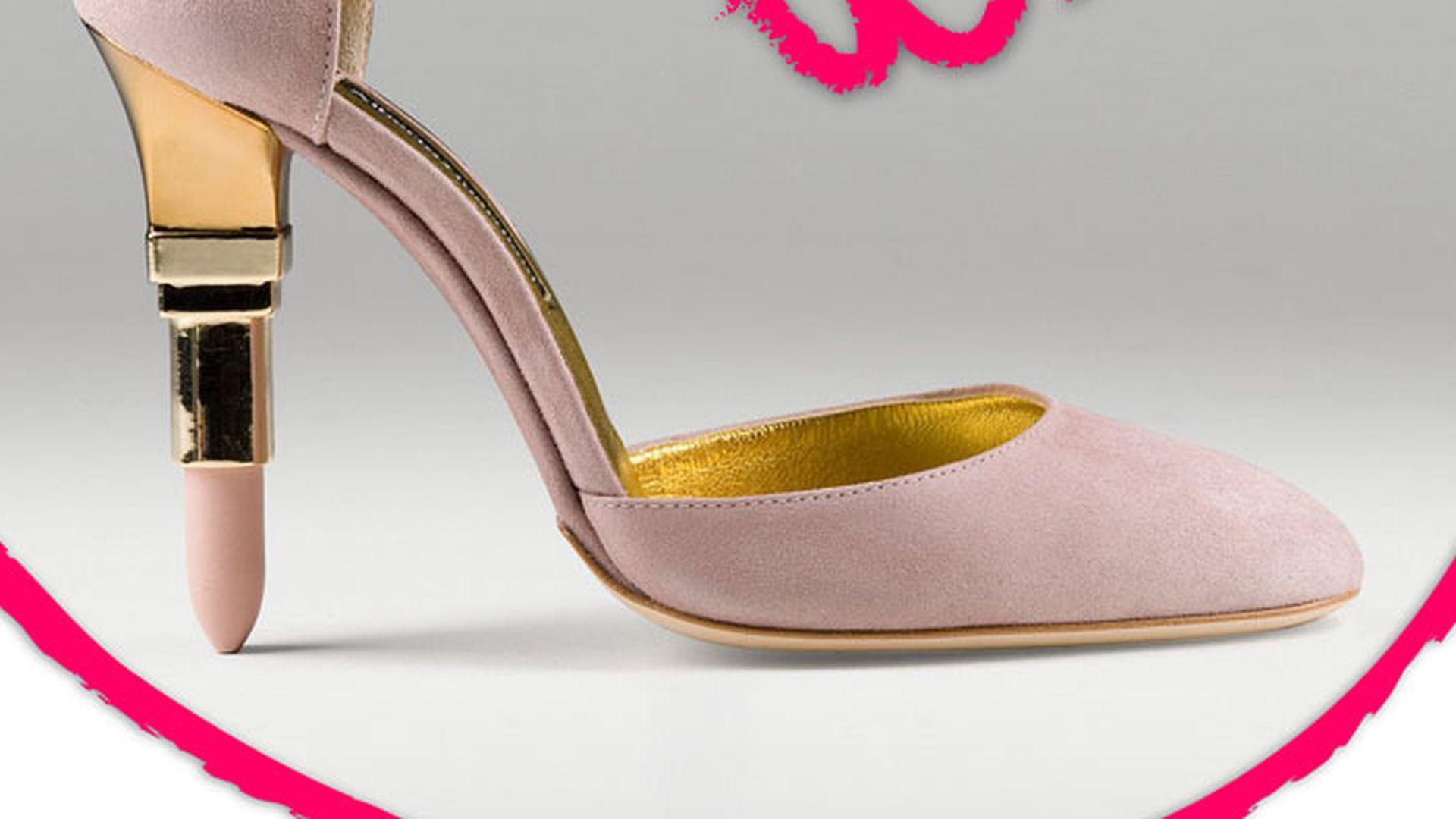 Schuhe mit lippenstift absatz