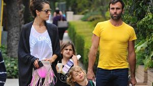 Family-Day! Alessandra Ambrosio wird von ihren Kids abgeholt
