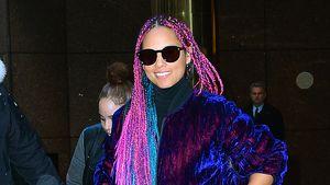 Knallig ohne Make-up: Alicia Keys setzt auf Einhorn-Mähne!