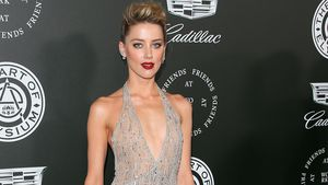Komplett durchsichtig! Amber Heard im knappen Glitzer-Fummel