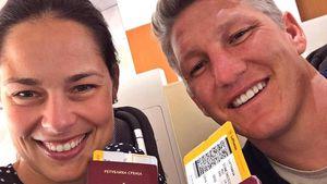 Ana Ivanovic und Bastian Schweinsteiger auf dem Weg nach Chicago