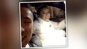Selbst ist die Braut! Hier fährt Aneta ihren Mann nach Hause