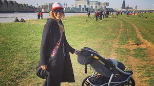 Angela Finger-Erben mit Baby Anna