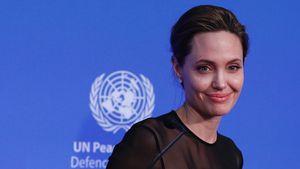 Angelina Jolie bei einem Referat im Auftrag der UN
