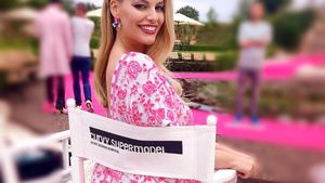 """Angelina Kirsch am Set von """"Curvy Supermodel"""""""