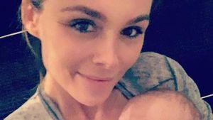 Angelina Posth und ihre Tochter Penelope