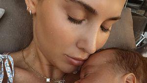 Ann-Kathrin Götze zeigt sich total verkuschelt mit Baby Rome