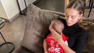 Süß! Rome Götze trägt Trikot vom neuen Verein seines Papas