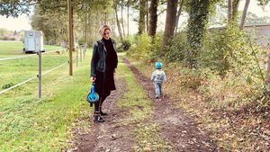 Stolzer Laubläufer: So groß ist Anna-Maria Zimmermanns Sohn!
