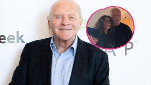 So süß feiert Anthony Hopkins Oscar-Sieg mit Salma Hayek!