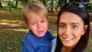 Tyla Carrs Sohn in Klinik: Er ist auf einem Auge fast blind