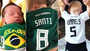 Baby-Boys im Fußball-Fieber: Die drei süßesten WM-Fans!