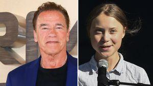 """""""Eine Heldin!"""": Arnie und Greta Thunberg unternehmen Radtour"""