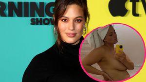 Direkt nach Dusche: Schwangere Ashley Graham teilt Nackt-Pic