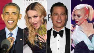 Barack Obama, Madonna, Brad Pitt und Gwen Stefani
