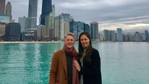 Bastian Schweinsteiger und Ana Ivanovic beim Sightseeing in Chicago