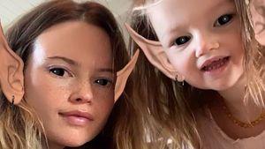 Selten: Behati Prinsloo teilt ein Selfie mit Tochter Gio (3)