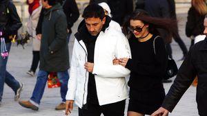Bella Hadid mit einem unbekannten Mann in Paris
