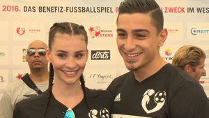 """Betty Taube und Koray Günter bei """"Kicken mit Stars"""""""