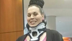 Schock: Bibi Kossmann brach sich Genick bei Unfall!