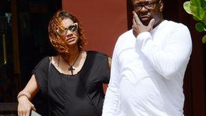 Bobby Brown und seine Frau Alicia, die einen Babybauch hat