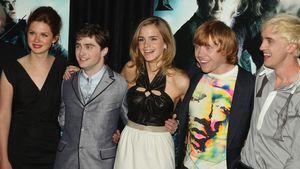 Bonnie Wright, Daniel Radcliffe, Emma Watson, Rupert Grint und Tom Felton bei der Premiere