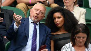 In Wimbledon: Boris Becker wird von neuer Freundin begleitet