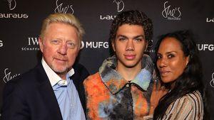Selten! Hier posieren Boris und Ex Barbara mit Sohn Elias
