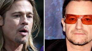 Brad Pitt und Bono