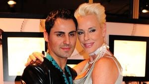 Mattia Dessi und Brigitte Nielsen