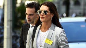 Brooke Shields auf dem Weg ins Gericht in New York
