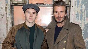 Brooklyn mit seinem Vater David Beckham